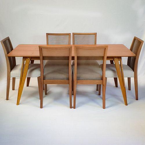 Conjunto Mesa Master 180x90cm + 6 Cadeiras Cady Lee
