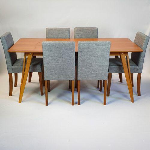 Conjunto Mesa Master 180x90cm + 6 Cadeiras Itália
